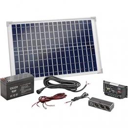 Solar Set 20W mit Akku Bausatz Solaranlage Inselanlage Camping, esotec 120005 - 1