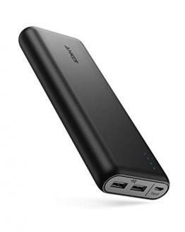 Anker Powerbank, PowerCore 20100mAh Externer Akku, hohe Kapazität 2-Port 4,8 A Output Ladegerät mit PowerIQ Technologie für iPhone, iPad, Samsung Galaxy und viele mehr (in Schwarz/Matt) - 1