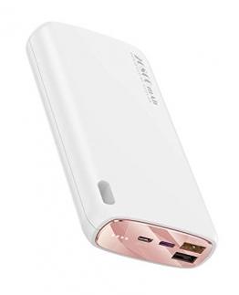 Kuulaa 26800mAh Tragbares Ladegerät PD QC 3.0 20W Power Bank USB C Externer Akku Ladegerät für Mobiltelefone mit Zwei Eingängen und DREI Ausgängen für iPhone Samsung Tablets (Schnellladung, Weiß) - 1