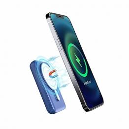 Magnetische 15W Wireless Power Bank 10000mAh, tragbares JIGA PD 20W Ladegerät,Geeignet für iPhone12 / 12Pro / 12 Mini / 12Pro / Max (Blau) - 1