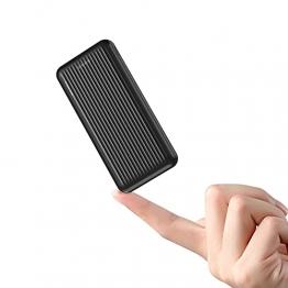 Power Bank 10000mAh, undreem Powerbank USB C mit 2 Ausgängen 5V/2.4A, Kleine und Kompakte Externer Akku mit Micro, Handy Ladegerät Leicht Compact Externer Batterie für iPhone, Samsung, Huawei - 1