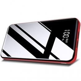 Todamay Powerbank 26800mAh Externer Akku Mit LCD Digital Display Hoher Kapazität Tragbares Ladegerät 3 Eingängen 2 Ausgängen Akku Pack für Handy, Tablet und Mehr USB-Gerät - 1