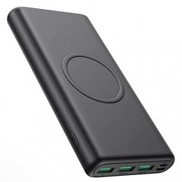 iPosible 15W Wireless Powerbank 33800mAh,【25W PD3.0 Type-C+USB QC4.0】 Schnelles Aufladen Externer Akku, 5 Outputs Wireless Charger Power Bank für Handy, Tablets - 1